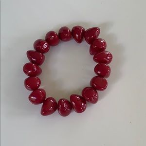 Maroon/red stretchy Bracelet